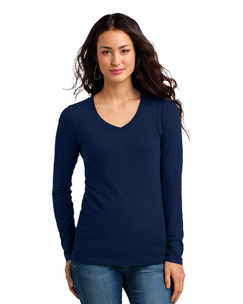 District DT5201 Women The Concert Tee  Long-Sleeve V-Neck  at GotApparel