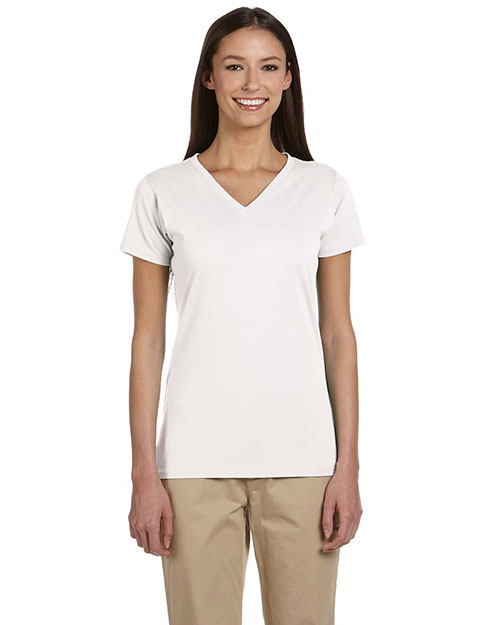 Custom Embroidered Econscious EC3052 Women 4.4 Oz. 100% Organic Cotton Short-Sleeve V-Neck T-Shirt at GotApparel