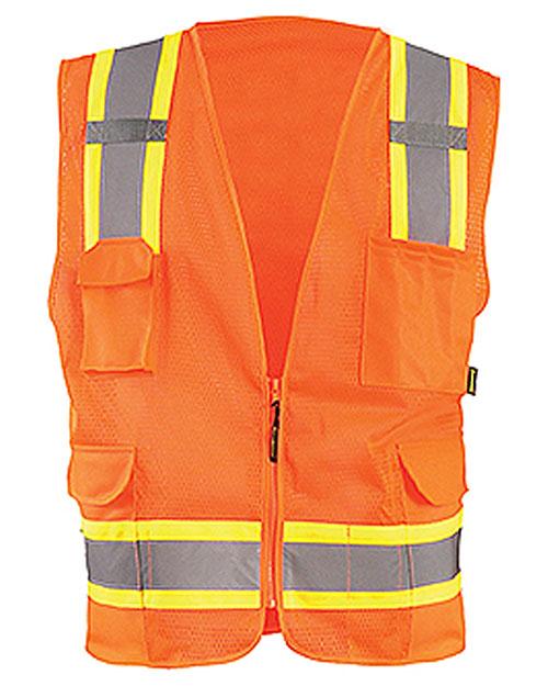 OccuNomix ECOATRN Men High Visibility Two-Tones Surveyor Mesh Vest at GotApparel