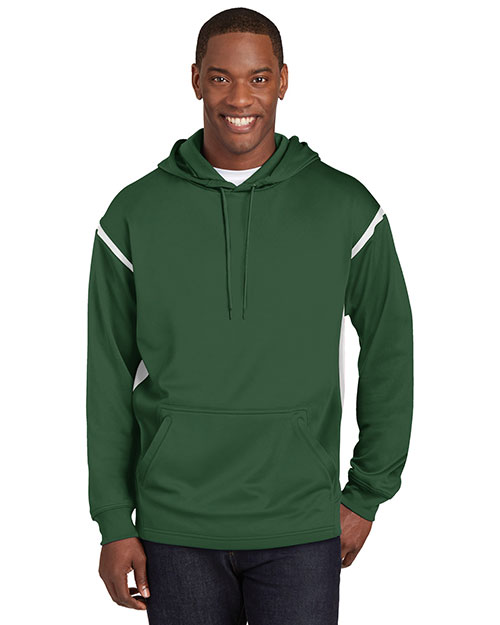 Sport-Tek® TST246 Men Tall Tech Fleece Colorblock Hooded Sweatshirt at GotApparel