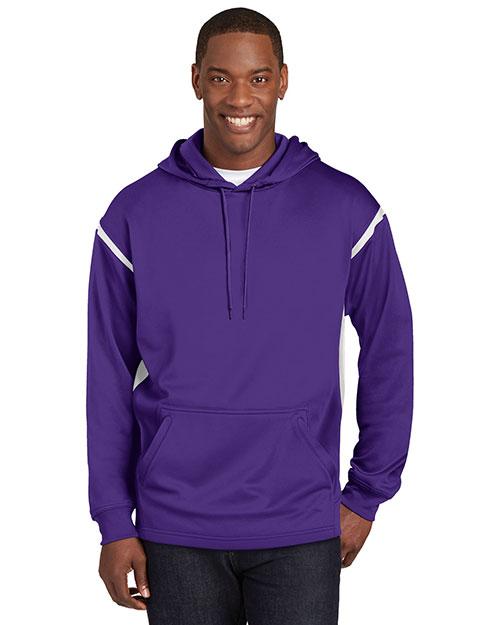 Sport-Tek® TST246 Men Tall Tech Fleece Colorblock Hooded Sweatshirt at GotApparel
