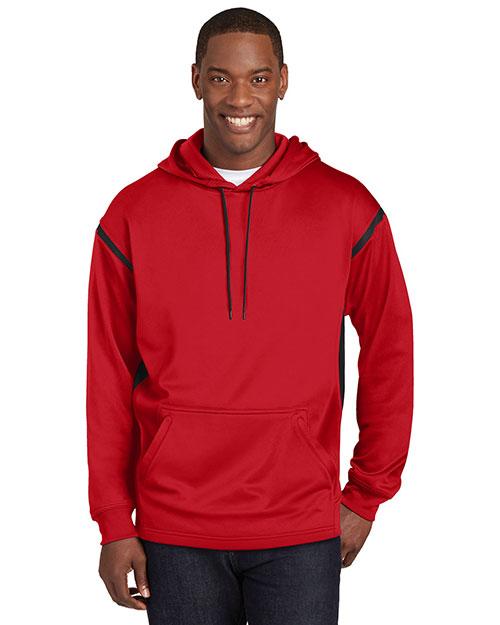 Sport-Tek® F246 Men Tech Fleece Colorblock Hooded Sweatshirt at GotApparel