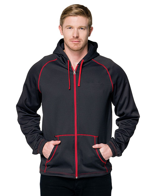Tri-Mountain F7173 Men Tmr  Cf2 Full-Zip Hoody Sweatshirt at GotApparel