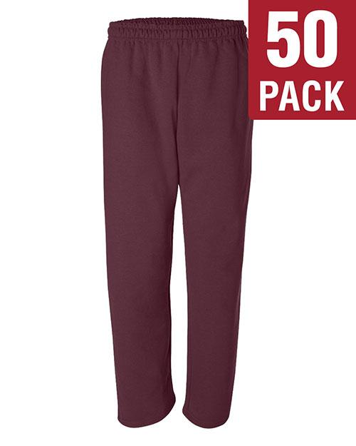 Gildan G123 Men Dryblend 9.3 Oz. 50/50 Open-Bottom Sweatpants 50-Pack at GotApparel