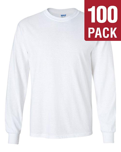 Gildan G240 Men Ultra Cotton 6 Oz. Long-Sleeve T-Shirt 100-Pack at GotApparel