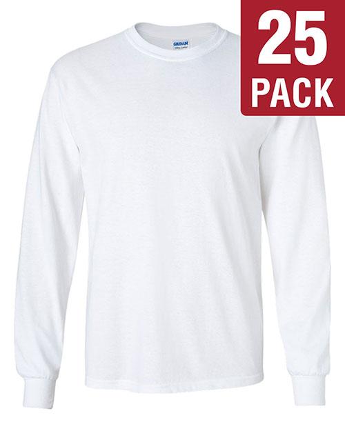 Gildan G240 Men Ultra Cotton 6 Oz. Long-Sleeve T-Shirt 25-Pack at GotApparel