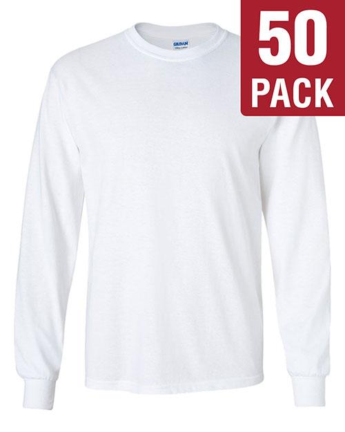Gildan G240 Men Ultra Cotton 6 Oz. Long-Sleeve T-Shirt 50-Pack at GotApparel