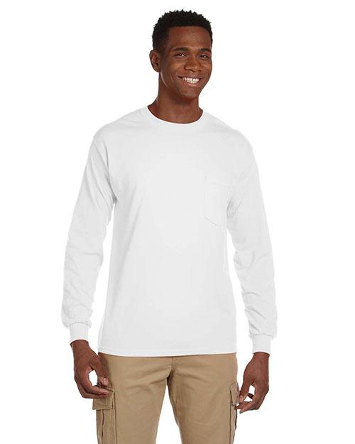 Gildan G241 Men Ultra Cotton 6 Oz. Long-Sleeve Pocket T-Shirt at GotApparel