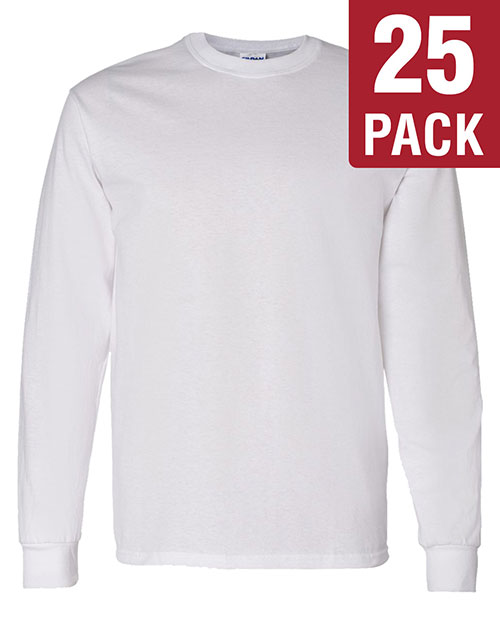 Gildan G540 Men Heavy Cotton 5.3 Oz. Long-Sleeve T-Shirt 25-Pack at GotApparel