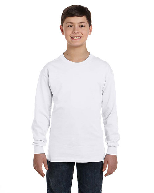 Gildan G540B Boys Heavy Cotton Long-Sleeve T-Shirt at GotApparel
