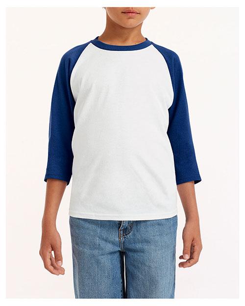 Gildan G570B Boys 5.3 oz. 3/4-Raglan Sleeve T-Shirt at GotApparel