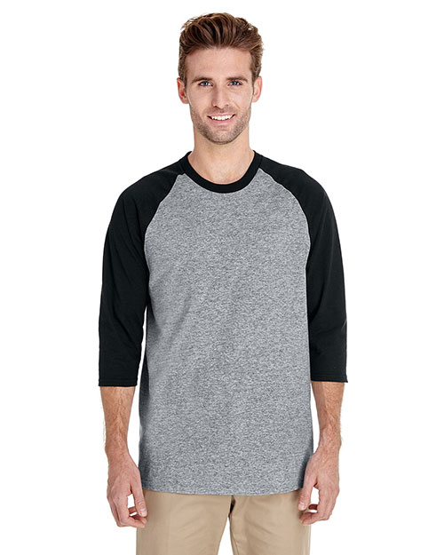 Gildan G570 Men Heavy Cotton ¾ Sleeve Raglan at GotApparel