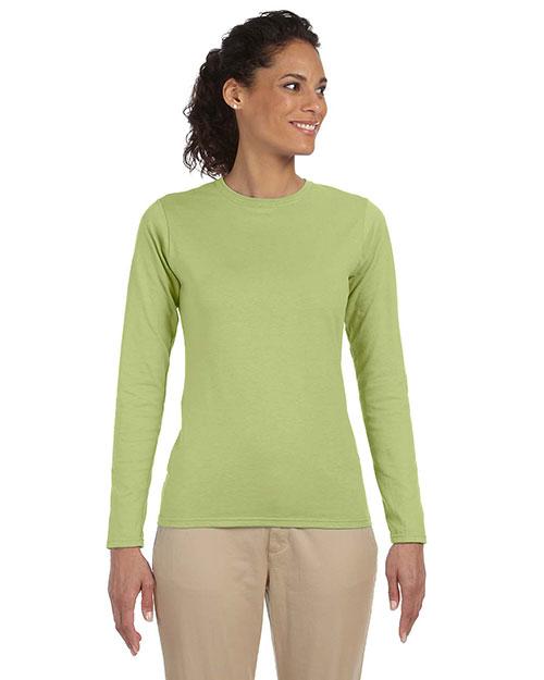 Gildan G644L Women Softstyle 4.5 Oz. Fit Long-Sleeve T-Shirt at GotApparel