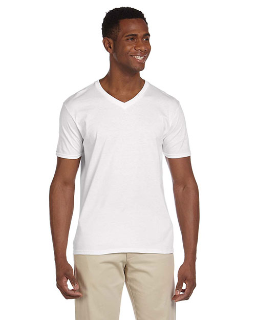 Gildan G64V Men Softstyle 4.5 Oz. V-Neck T-Shirt at GotApparel