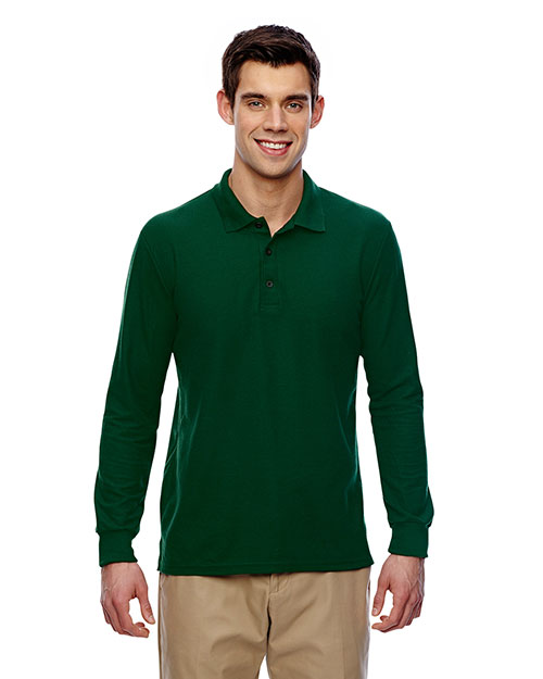 Gildan G729 Men Drybelnd Double Pique Long-Sleeve Polo at GotApparel