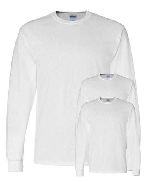 Gildan G840 Men Dryblend 5.6 Oz. 50/50 Long-Sleeve T-Shirt 3-Pack at GotApparel