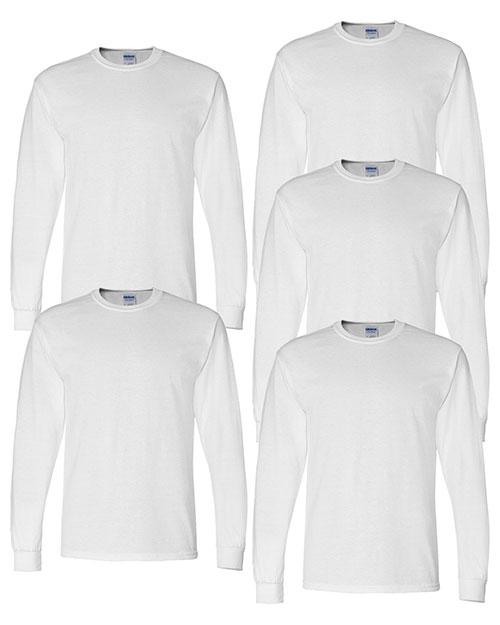 Gildan G840 Men Dryblend 5.6 Oz. 50/50 Long-Sleeve T-Shirt 5-Pack at GotApparel