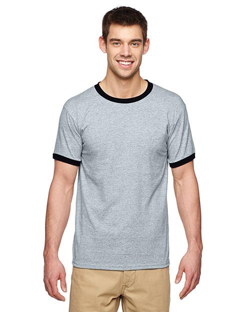 Gildan G860 Adult DryBlend 5.6 oz. Ringer T-Shirt at GotApparel