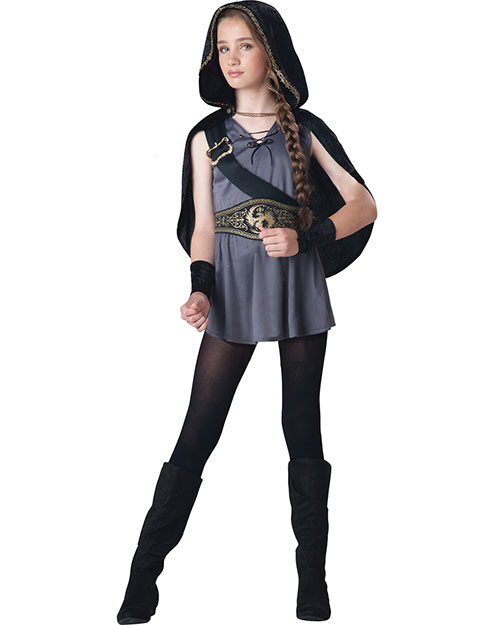 Halloween Costumes IC18047SM Unisex Hooded Child Huntress Small at GotApparel
