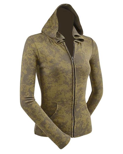 Junior Vintage Silicon Wash Long Sleeve Zip Hoodie at GotApparel