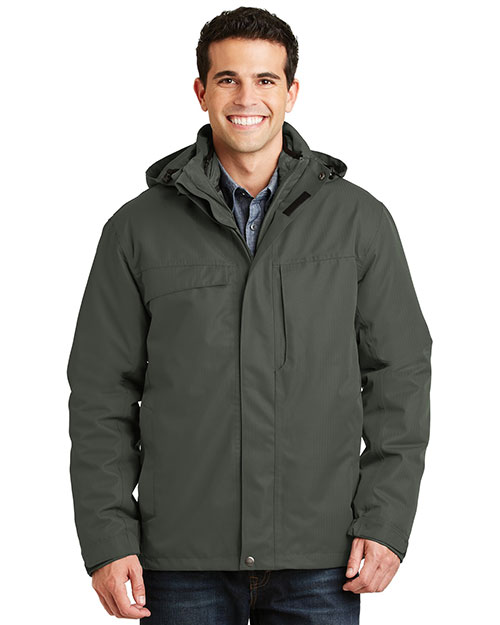 Port Authority J302 Men Herringbone 3-in-1 Parka at GotApparel