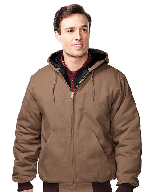 Tri-Mountain J4550 Men Foreman Cotton Canvas Hooded Jacket at GotApparel