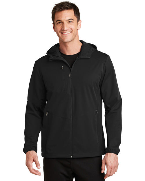 Port Authority J719 Women Active Hooded Soft Shell Jacket at GotApparel