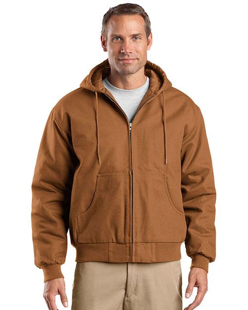 CornerStone TLJ763H Men Tall Duck Cloth Hooded Work Jacket at GotApparel