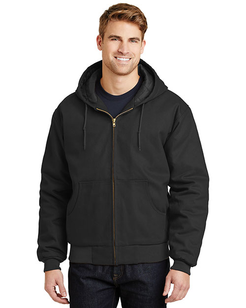 Cornerstone J763H Men Duck Cloth Hooded Work Jacket at GotApparel
