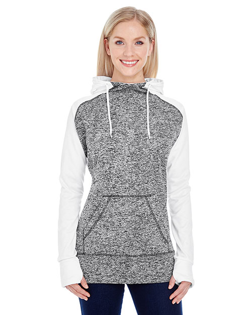 J America JA8618 Women Colorblock Cosmic Hood at GotApparel