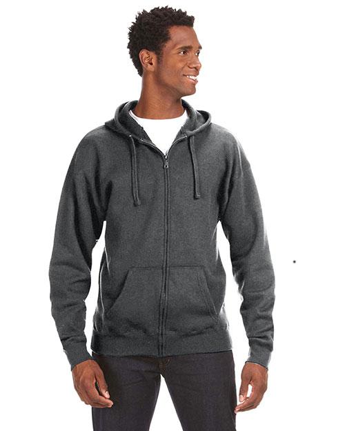 J America JA8821 Men Premium Full-Zip Fleece Hood at GotApparel