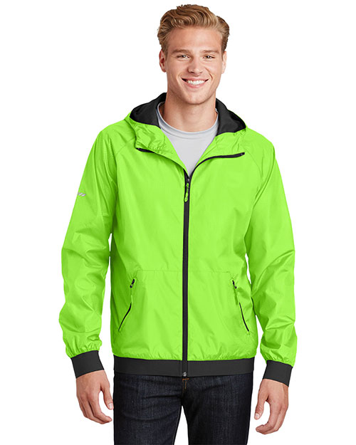 Sport-Tek JST53 Men Embossed Hooded Wind Jacket at GotApparel