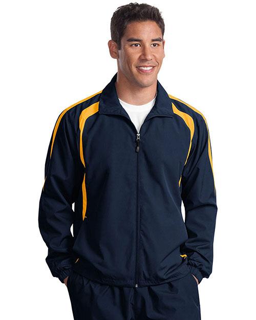 Sport-Tek® TJST60 Men Tall Colorblock Raglan Jacket at GotApparel
