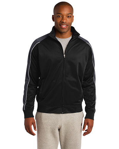 Sport-Tek JST92 Men Piped Tricot Track Jacket at GotApparel