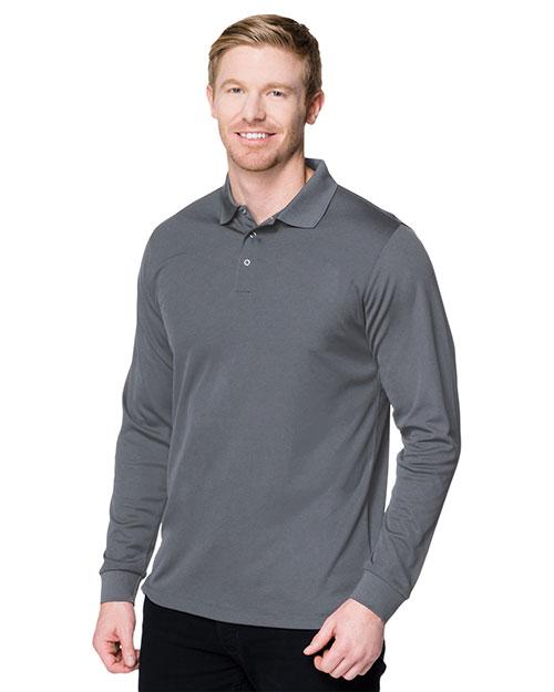 Tri-Mountain K022LS Men Vital Long-Sleeve Snap Polo Shirt at GotApparel