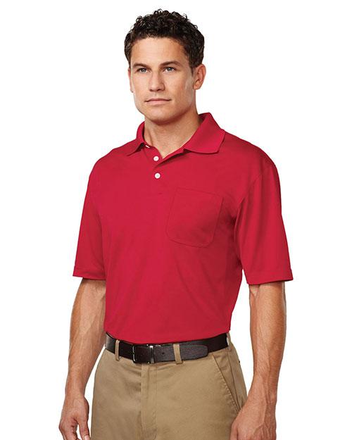 TM Performance K158P Men's Vigor Pocket Short-Sleeve Pique Polo at GotApparel