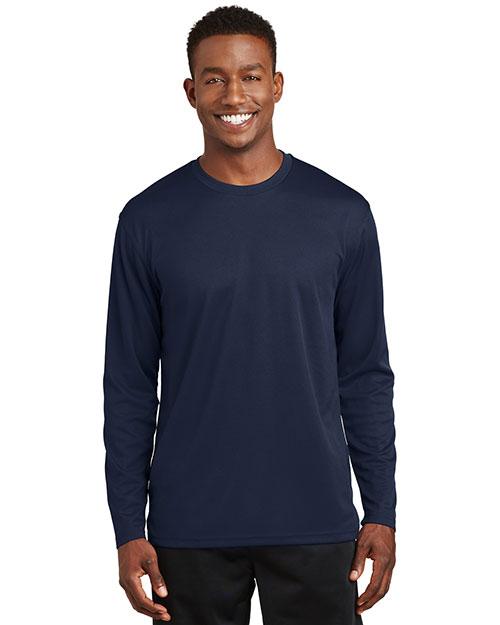 Sport-Tek K368 Men Dri Mesh Long-Sleeve T-Shirt at GotApparel