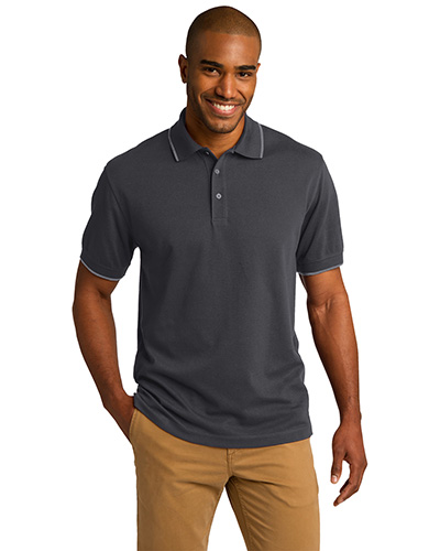 Port Authority K454 Men Rapid Dry Tipped Polo at GotApparel