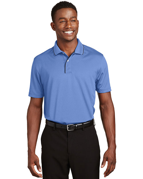 Sport-Tek K467 Men Dri Mesh Polo With Tipped Collar at GotApparel