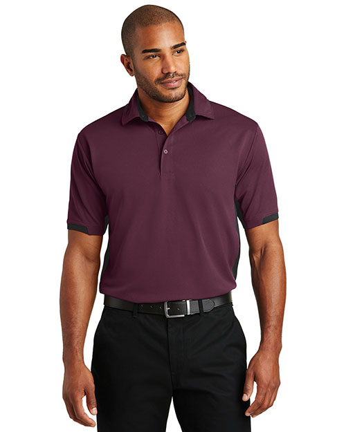 Port Authority K524 Men Dry Zone Colorblock Ottoman Polo at GotApparel