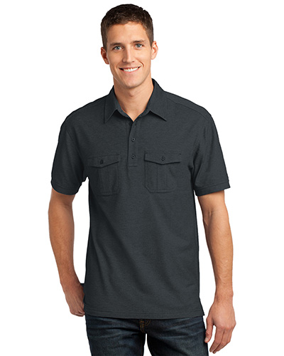 Port Authority K557 Men Oxford Pique Double Pocket Polo at GotApparel