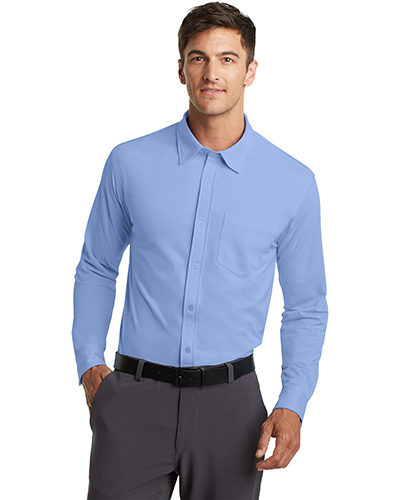 Port Authority K570 Men Dision Knit Dress Shirt at GotApparel