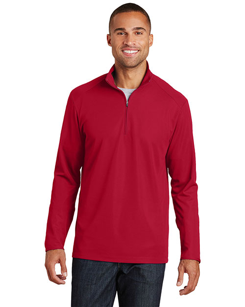 Port Authority K806 Adult Pinpoint Mesh 1/2-Zip at GotApparel