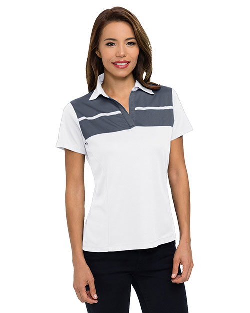 Tri-Mountain KL025 Women mini-pique polo at GotApparel