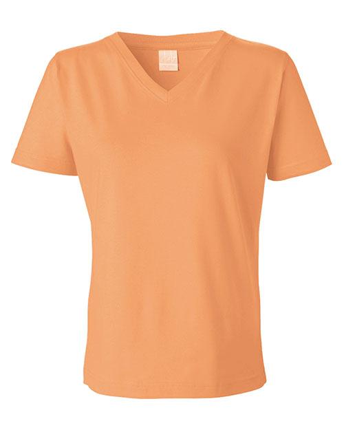 LAT L-3587 Women Ringspun V-Neck T-Shirt at GotApparel