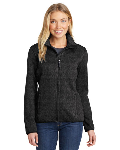 Port Authority L232 Women Sweater Fleece Jacket at GotApparel