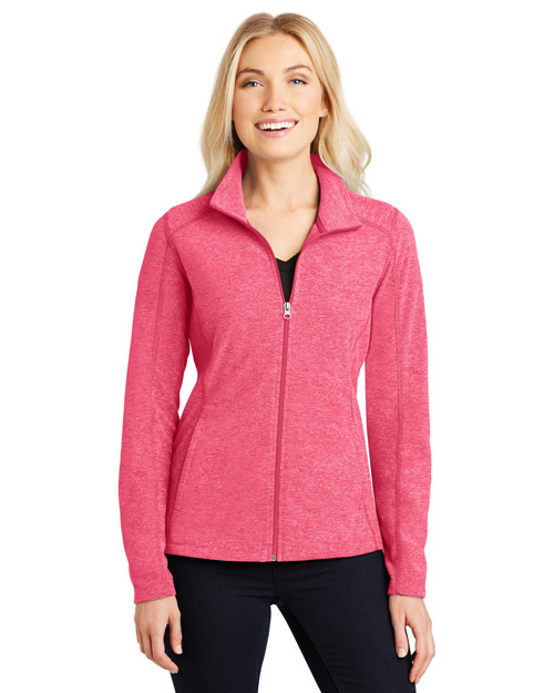 Port Authority L235 Women Heather Microfleece Full-Zip Jacket at GotApparel