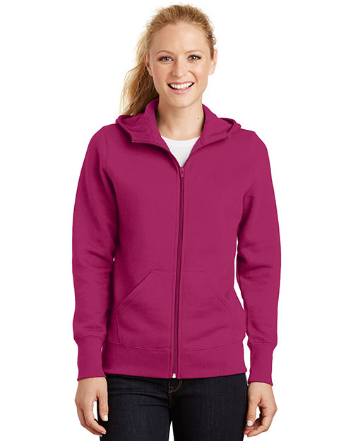 Sport-Tek L265 Women Full-Zip Hooded Fleece Jacket at GotApparel