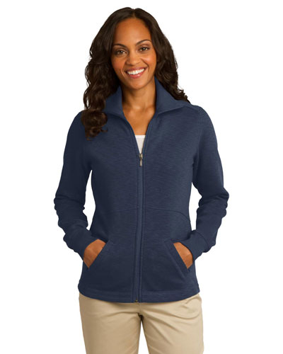 Port Authority L293 Women Slub Fleece Full-Zip Jacket at GotApparel