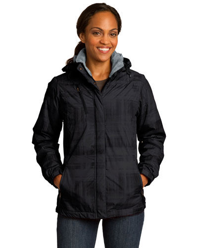 Port Authority L320 Women Brushstroke Print Insulated Jacket at GotApparel
